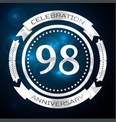 ninety eight years anniversary celebration with vector image