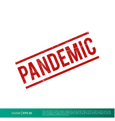 Pandemic covid-19 corona virus grunge stamp icon vector