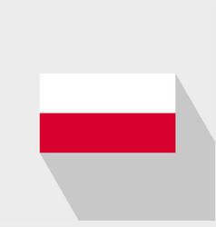 Poland flag long shadow design vector