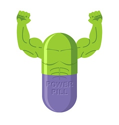 Power pills Tablets for bodybuilding Medication vector image