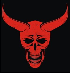 Red Evils Head vector image
