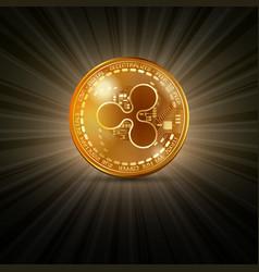 Ripple golden coin vector