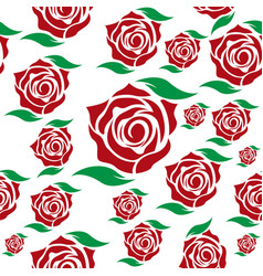 rose seamless flower background template vector image