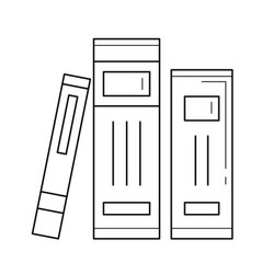 School books on literature line icon vector