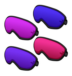 Set of colorful sleeping masks from relax isolated vector
