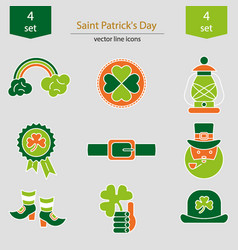 Set of saint patrick s day icons vector