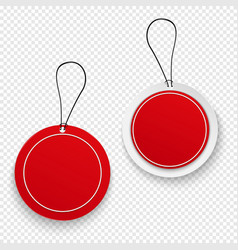set red sale tags vector image