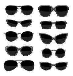 Set stylish sunglasses vector