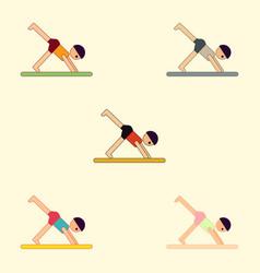 Sport player gymnast boy collection vector
