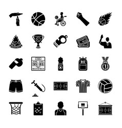 sports glyph icons vector image