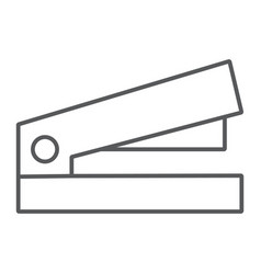 Staple thin line icon office and work stapler vector