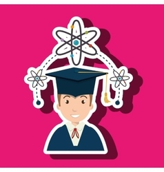 Student man graduation education vector