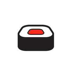 sushi pizza and food logo icon design vector image