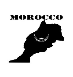 Symbol of morocco and map vector