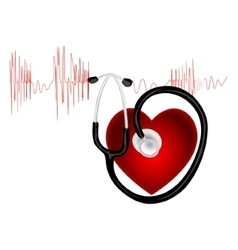 The cardiogram vector image