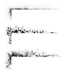 three grunge frames vector image