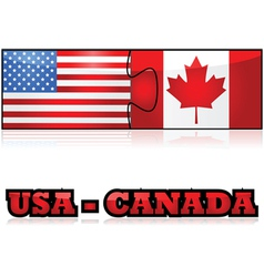 United states and canada puzzle vector