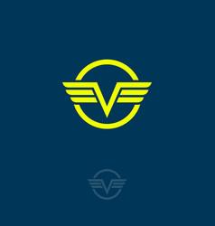 v monogram v letter vector image