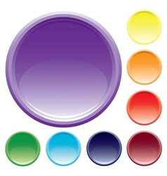 Varicolored buttons vector image