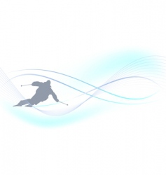 winter background skier vector image
