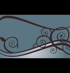 blue swirls vector image vector image