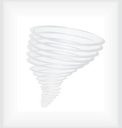 Hurricane or tornado swirl vector