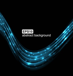Abstract light wave futuristic background vector image vector image