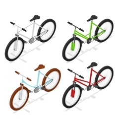 Color Bikes Set Isometric View vector image vector image
