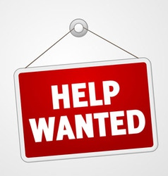 Help wanted sign vector
