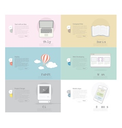 Icons Set Banner for Business Web and print desig vector image vector image