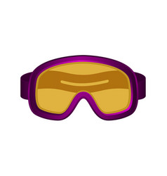 ski sport goggles in dark purple design vector image