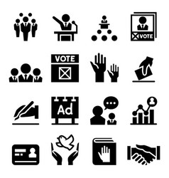 democracy election icon vector image