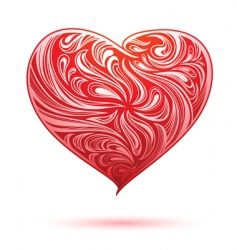 red heart ornament vector image