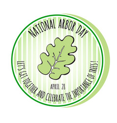 arbor day icon oak leaf vector image vector image