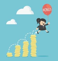 bonus of Business Woman vector image