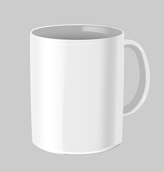 Cafe Mug Mock up White Isolate vector image vector image