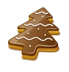 Christmas biscuit in form of vector image vector image