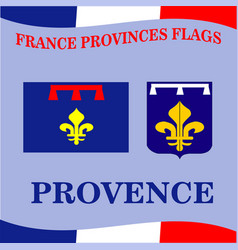 flag of french province provence vector image