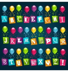 Party alphabet with balloons vector