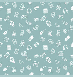 Seamless gadgets background texture vector