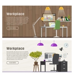 Two Horizontal banner for web design vector image