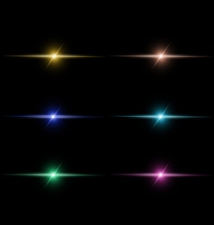 Abstract beam Light set vector image