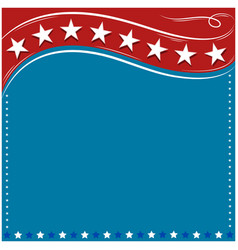 American flag frame background retro vector