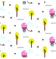 Amusement park pattern vector