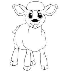Animal outline for little lamb vector