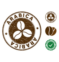Arabica stamp with distress texture vector