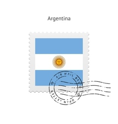 Argentina Flag Postage Stamp vector