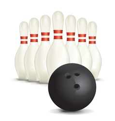 Bowling Pins Ball vector
