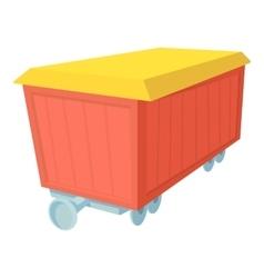 Boxcar icon cartoon style vector