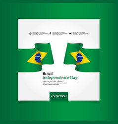 Brazil independence day celebration template vector